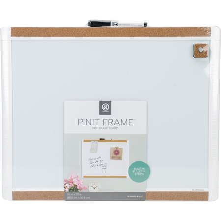 Dry Erase Calendar With Pinit Frame 1pkg 16x20 Walmart