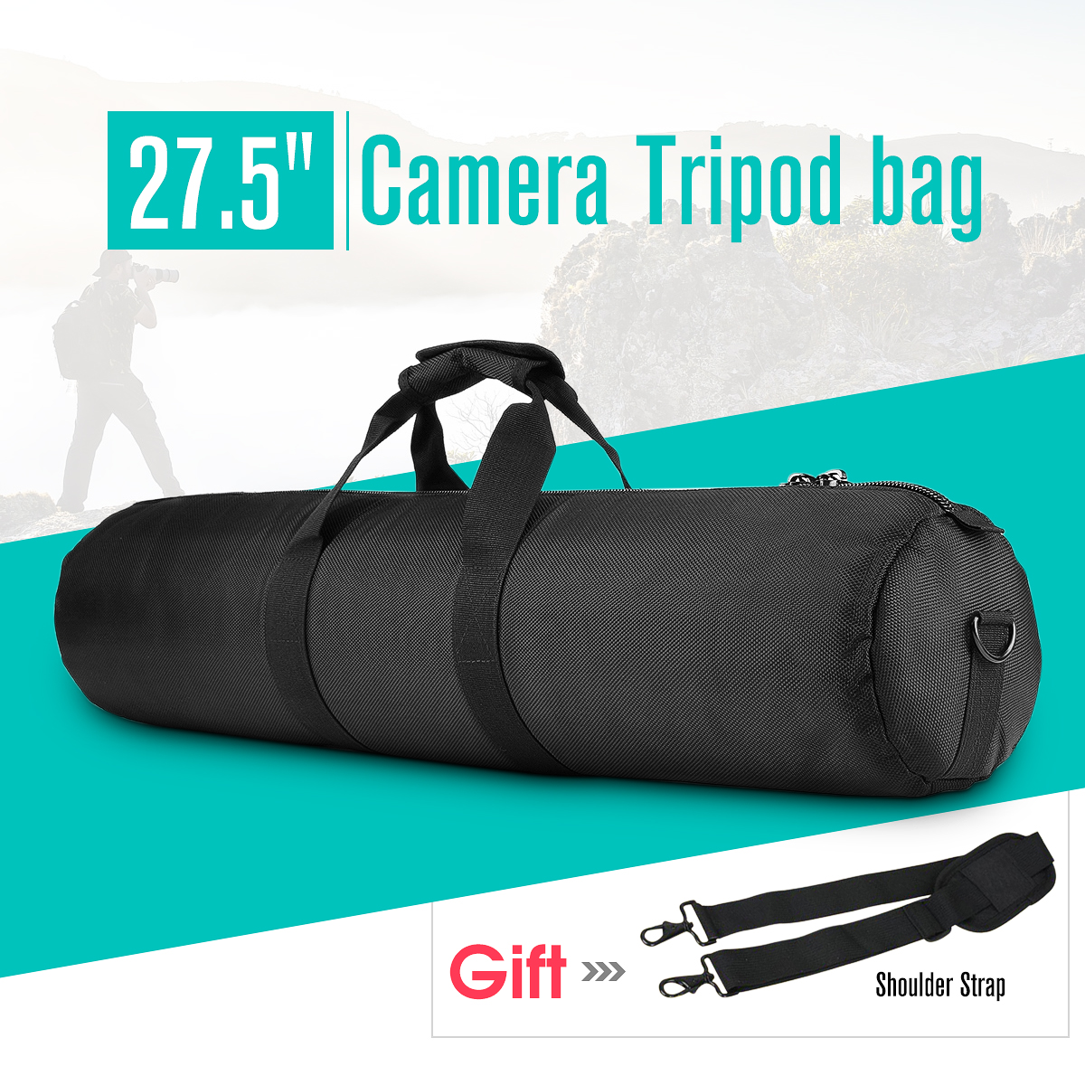 Waterproof Padded Strap Camera Tripod Carry Bag Case for Manfrotto, for Gitzo, for Velbon, and Other less than... by Unbranded