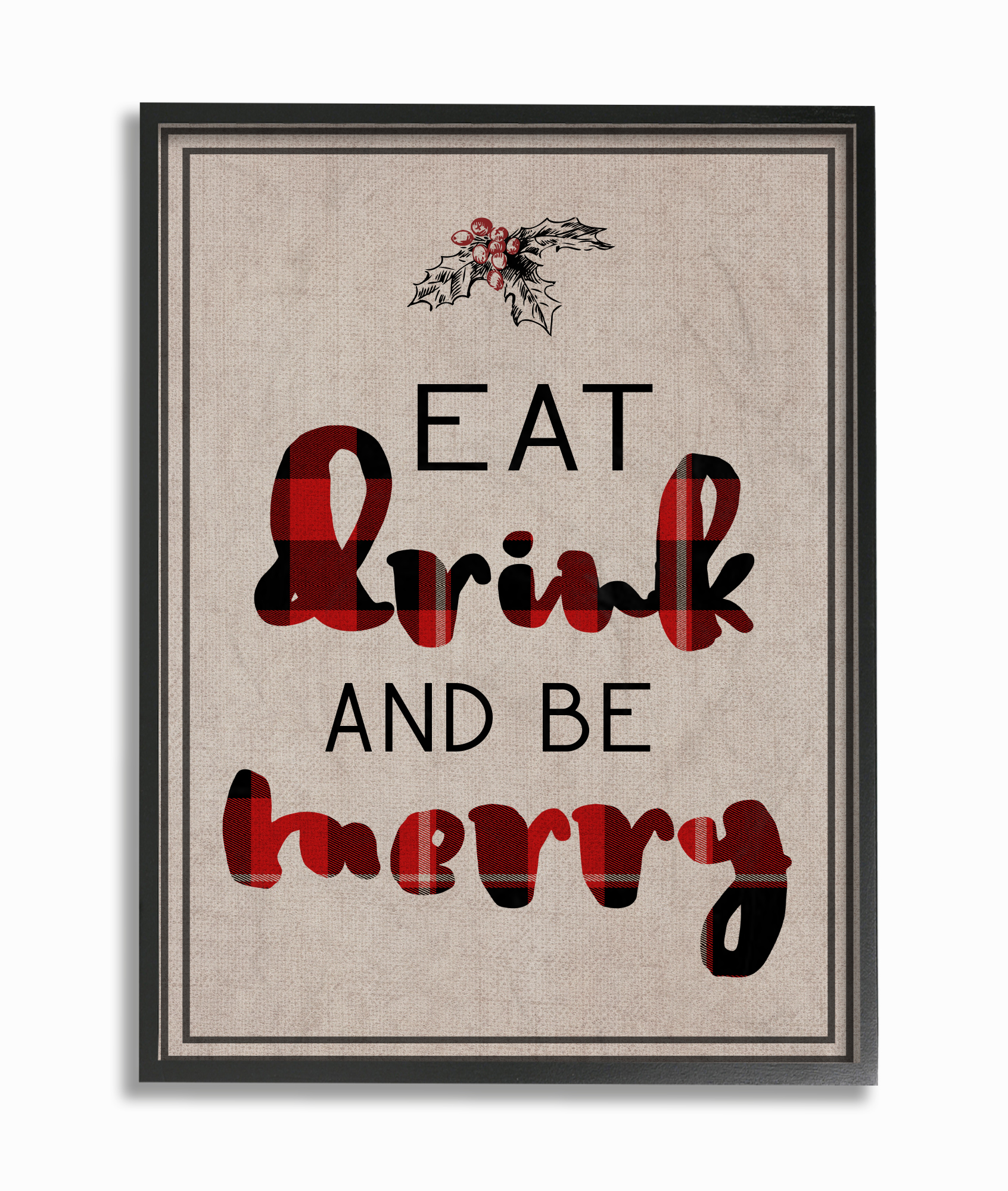 The Stupell Home Decor Collection Eat Drink and Be Merry Typography Oversized Framed... by Stupell Industries