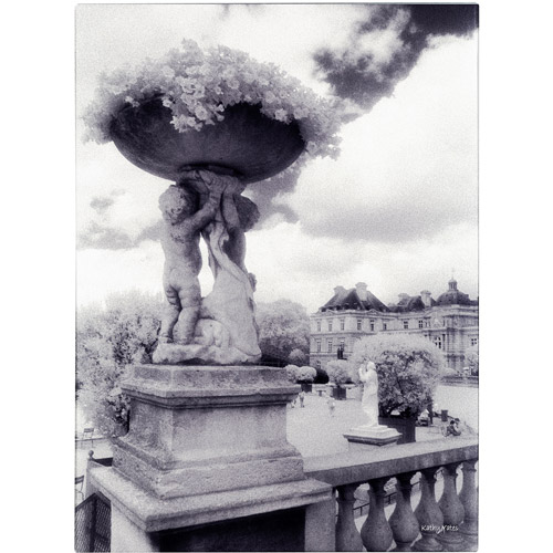 Trademark Fine Art 'Jardin du Luxembourg' Canvas Art by Kathy Yates