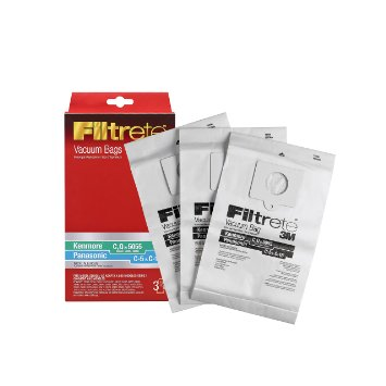 Kenmore C (50558) & Panasonic C-5 Micro Allergen Bag By 3M Filtrete - 3 Bags per pack - Part # 68700A-6