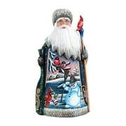G Debrekht Masterpiece Happy Snowman and Bird Santa Figurine