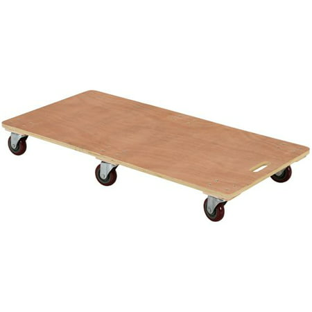 VESTIL HDOS-2448-6SW Hardwood Dolly - Solid Deck