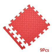 9pcs Eight-day Foam Mat with Boards Children's Puzzle Mat 9pcs Eight-day Baby Playing Interlocking Foam Floor Pad Sets