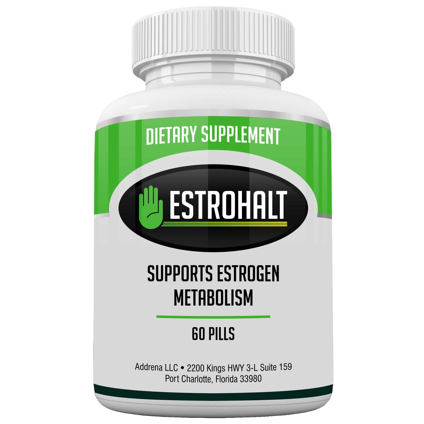 Estrohalt- Estrogen Blocker Pills for Women and Men with DIM and Indole-3-Carbinol | Natural Aromatase Inhibitor Vitamin Supplements to Decrease Female Hormones to Help PCOS, Menopause, and More
