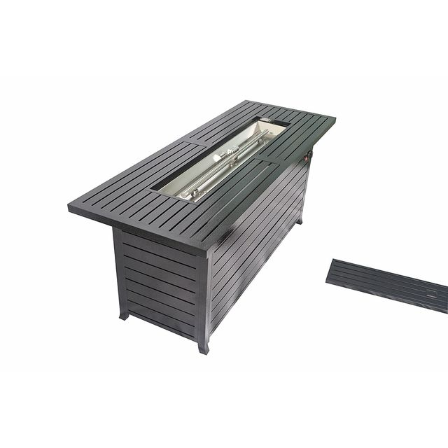 Legacy Heating Wind Guard Aluminum Propane Firepit Table by California Outdoor Design