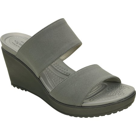 13a2b5be8a88 Crocs - Crocs Women s Leigh II 2-strap Wedge Sandal - Walmart.com