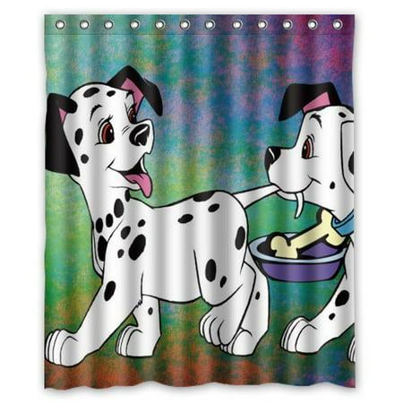 DEYOU Dalmatian Dog Puppy Shower Curtain Polyester Fabric Bathroom Size 60x72 Inches