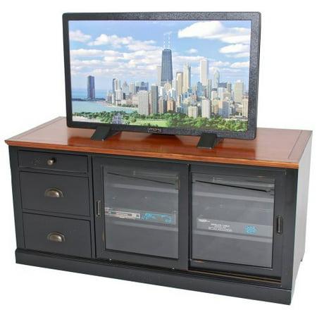 gs riverside sliding door tv stand 55 inch. Black Bedroom Furniture Sets. Home Design Ideas