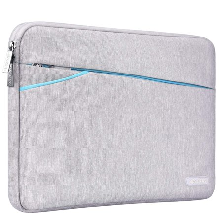 Mosiso Laptop Sleeve for 13-13.3 Inch MacBook Pro, MacBook Air, Notebook Computer with Two Side Pockets Storage, 360° Protective Drop-proof Chromebook Tablet Bag Case Cover,