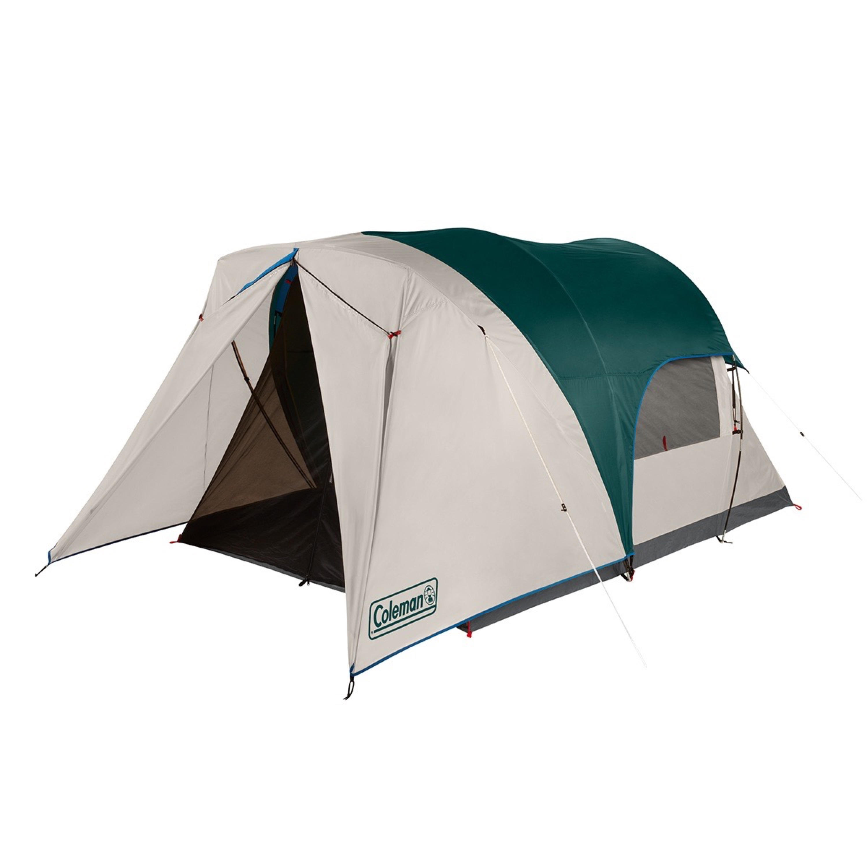Coleman 4 Person Cabin Tent With Enclosed Screen Porch Evergreen Walmart Com