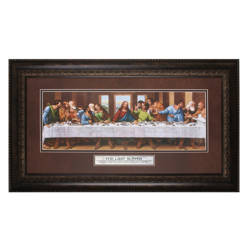 The James Lawrence Company The Last Supper the Lord Framed Print Painting