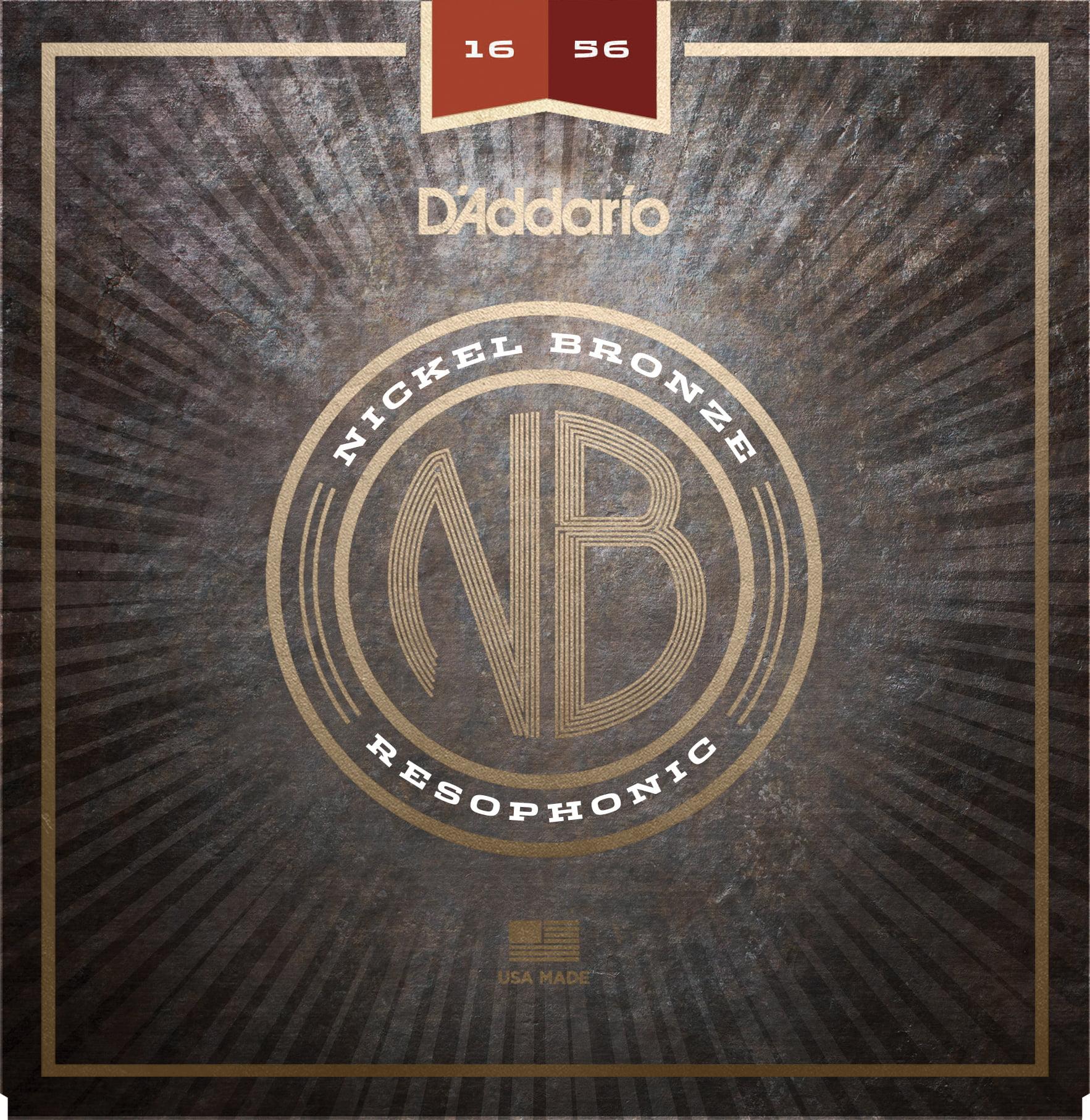 D'Addario NB1656 Nickel Bronze Acoustic Guitar Strings, Resophonic, 16-56 by D'Addario