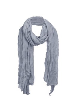 Women Neck Ornament Fashionable NEWS Pleated Scarf Gray