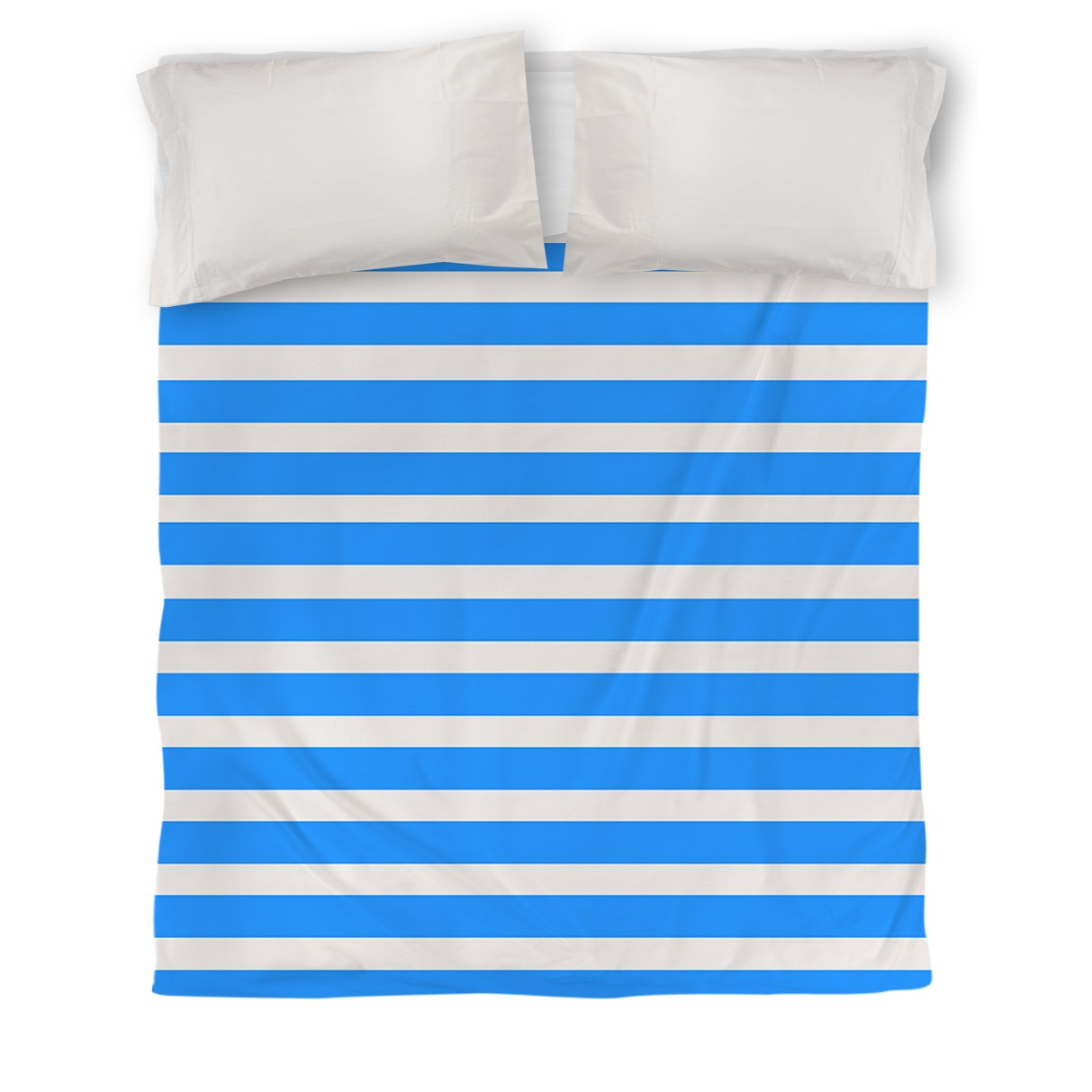 IDG Bright Stripes Duvet Cover, Robin Egg