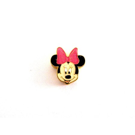 BRACCIALE DISNEY MINNIE MOUSE STAINLESS STEEL GOLD PLATE FLOATING NECKLACE CHARM