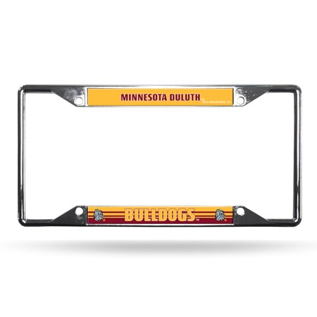 Minnesota License Plate Tag (Minnesota Duluth UMD Bulldogs NCAA Chrome EZ View License Plate Frame )