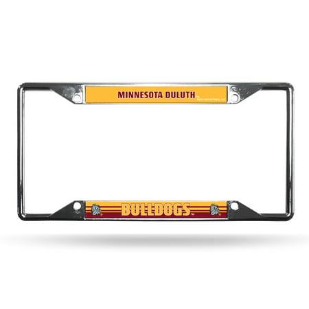 Minnesota Duluth UMD Bulldogs NCAA Chrome EZ View License Plate (Bulldogs License Plate)
