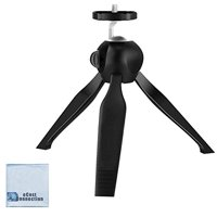 eCostConnection Mini Compact Tripod with Rotating head for Canon, Sony, Nikon, GoPro & more compact cameras, DSLR's and iPhone, android devices + Microfiber Cloth