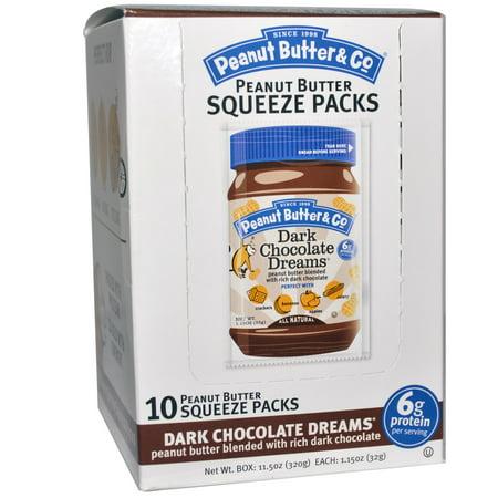Peanut Butter & Co., Squeeze Packs, Dark Chocolate Dreams Peanut Butter, 10 Per Box, 1.15 oz (32 g) Each(pack of