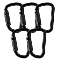Fusion Climb Tacoma Steel Triple Lock with Key Nose Modified D-shaped Carabiner 5-Pack