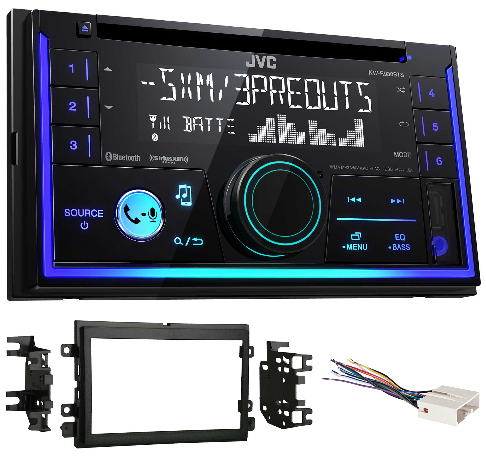 JVC Stereo CD Receiver w Bluetooth USB iPhone Sirius For 2004-2006 Ford F-150 by JVC