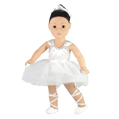 Prima Ballerina Ballet Outfit 18 Inch Doll Clothes clothing Fits American Girl Dolls... by Emily Rose Doll Clothes