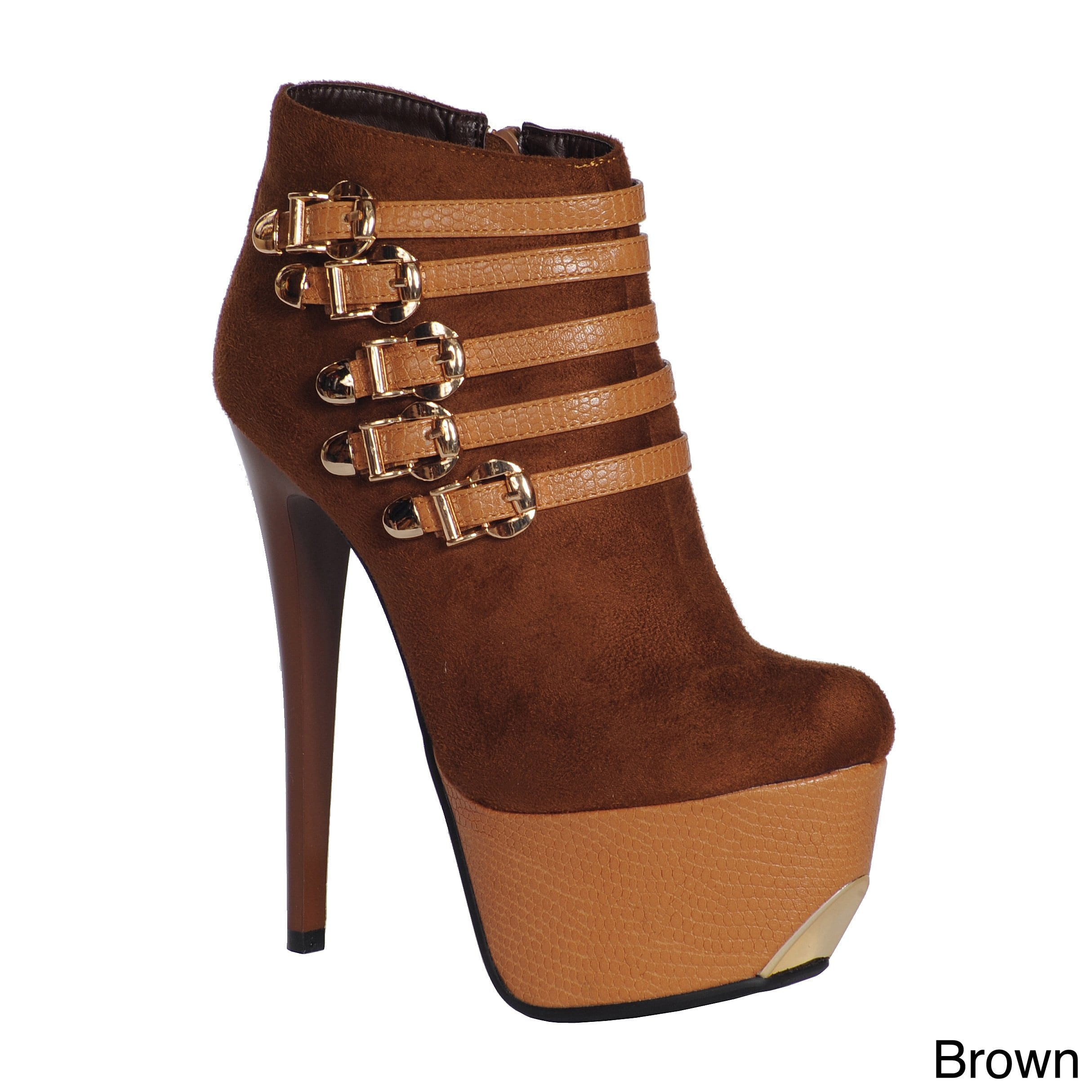 Ann Creek  Women's 'Chambly' Heels Ankle Boots Brown 9.5