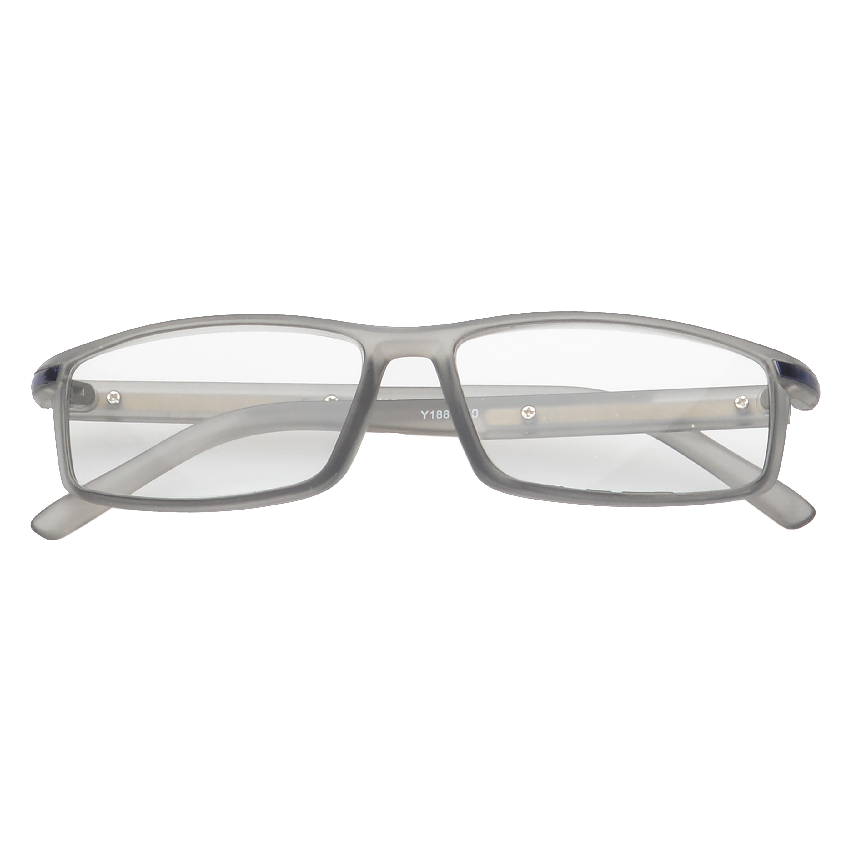 3cac787b08a MLC Eyewear  Saxton  Rectangle Reading Glasses +1.25 in Grey ...