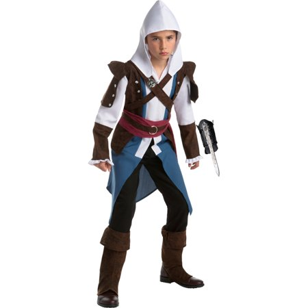 Assassin's Creed IV Edward Kenway Assassin Boys Costume Bundle (Edward Elric Halloween)