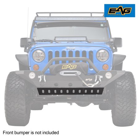EAG Lower Skid Plate for Front Bumper - fits 07-18 Jeep Wrangler JK