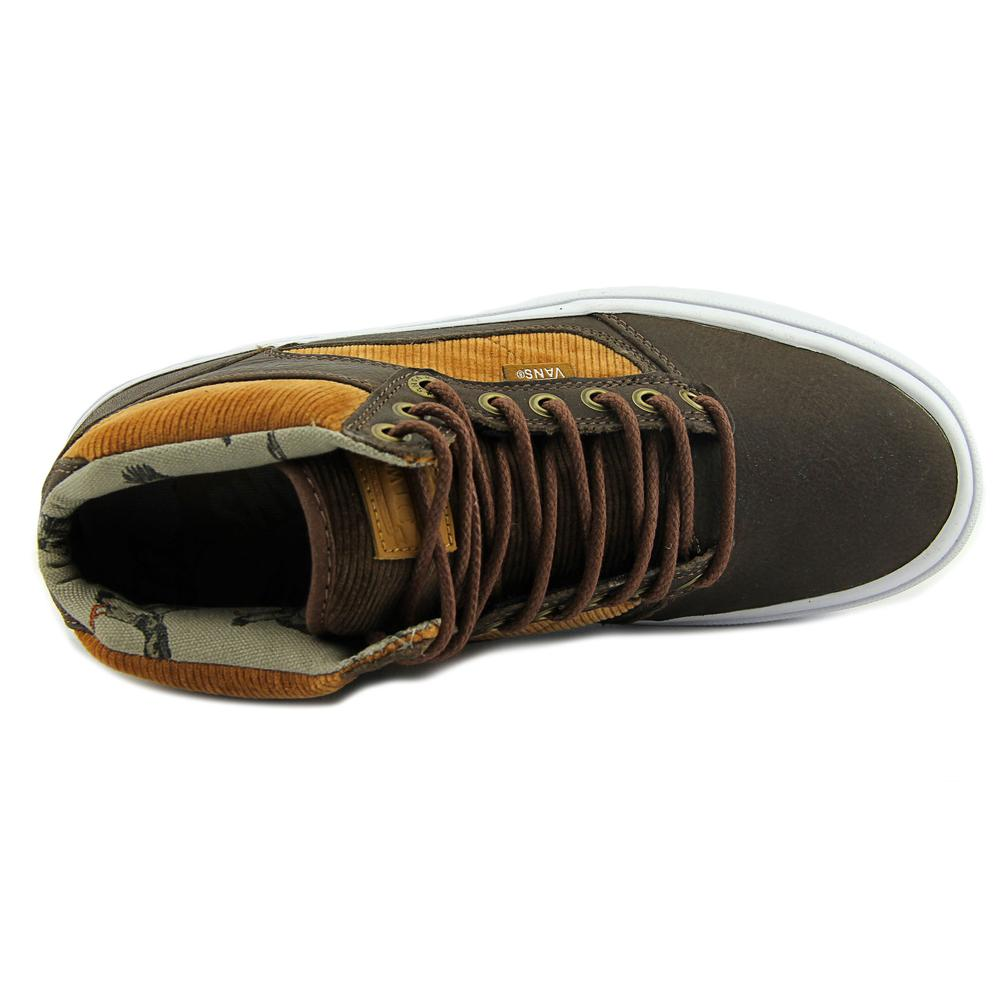 6aa5e7db384e01 Vans - Vans Men s Bedford Duck Hunt Brown   White Mid-Top Leather  Skateboarding Shoe - 10M - Walmart.com