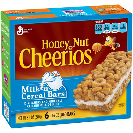 Honey Nut Cheerios Milk 'n Cereal Bars Treat Bar 6 - 1.4 ...