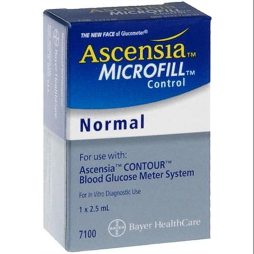 ascensia microfill blood glucose control solution normal 2