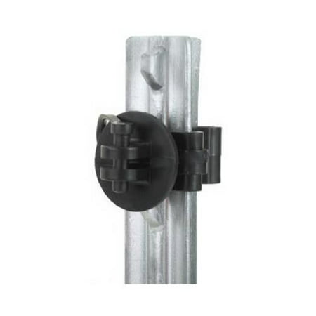 Dare Products 2550-25 Electric Fence Insulator, T-Post Pinlock, Black, 25-Pk.