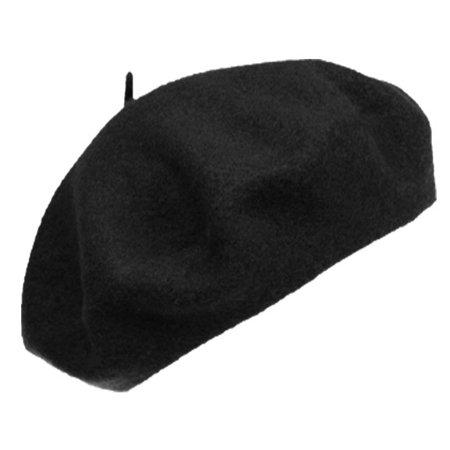 Tam Hat (French Wool Beret Tam Beanie Hat Warm Classic Lightweight Military)