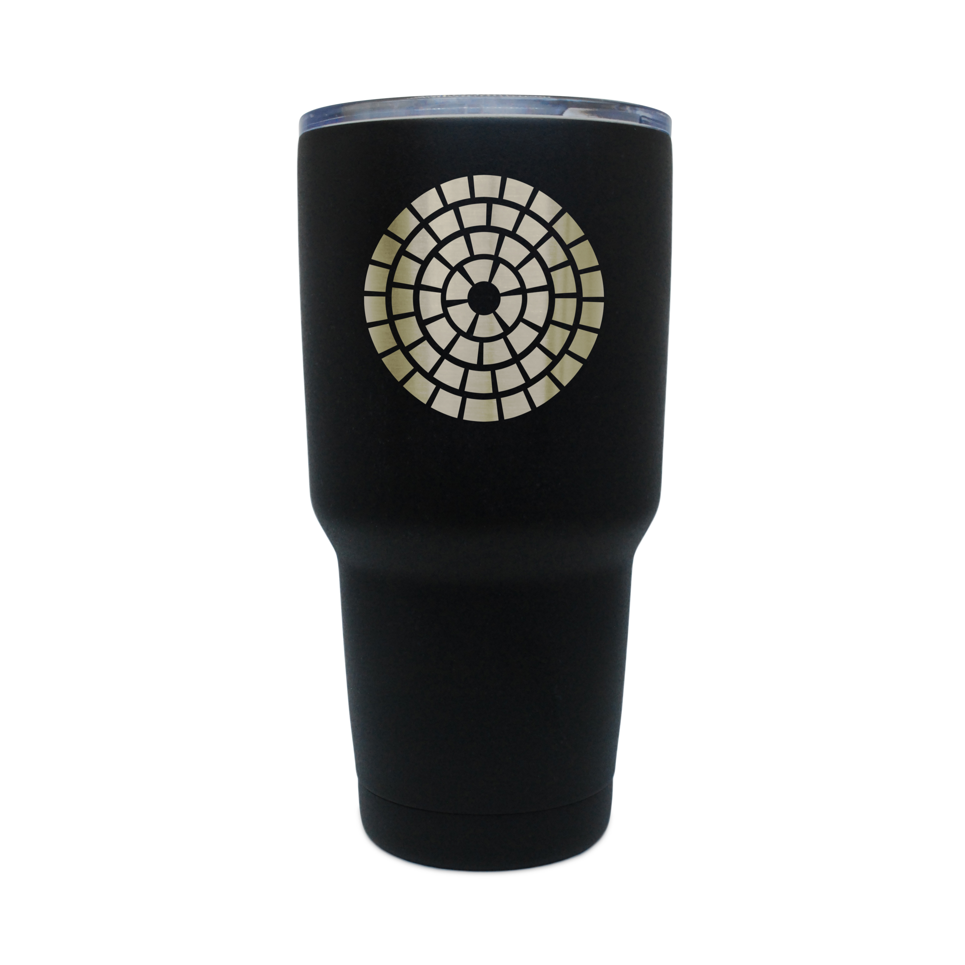 Mosaic Black Stainless Steel Tumbler, 30 Oz Insulated Tumbler, Laser Etched In Usa