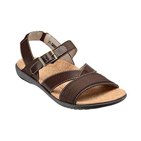 a3173c2fa8eb17 Spenco Ashley Women s Casual Orthotic Sandals - Chocolate - Walmart.com
