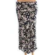 Bobeau NEW Black White Women's Size XS Maxi Floral Printed Stretch Skirt