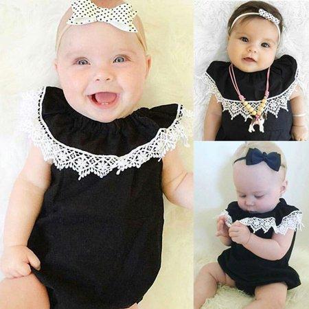 Adorable Set (Adorable Infant Baby Girls Lace Floral Romper Jumpsuit Bodysuit Cotton Outfits Set 0-18M)