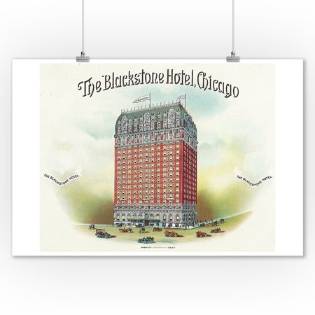 The Blackstone Hotel (Chicago) Brand Cigar Box Label (9x12 Art Print, Wall Decor Travel Poster)