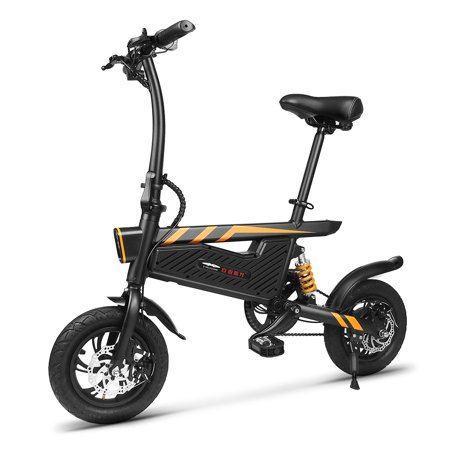 12 Inch Folding Power Assist Eletric Bicycle E-Bike 250W Motor and Dual Disc - Brake Assist