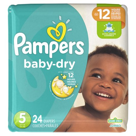 Pampers Baby-Dry Diapers Size 5 24 Count