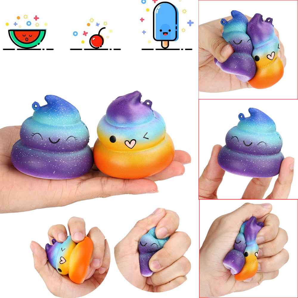Outtop 2pcExquisite Fun Crazy Poo Scented Squishy Charm Slow Rising Simulation Kid Toy