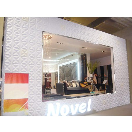 Arzil 3D Diamond Wall Panels 12 Panels White PVC Brick
