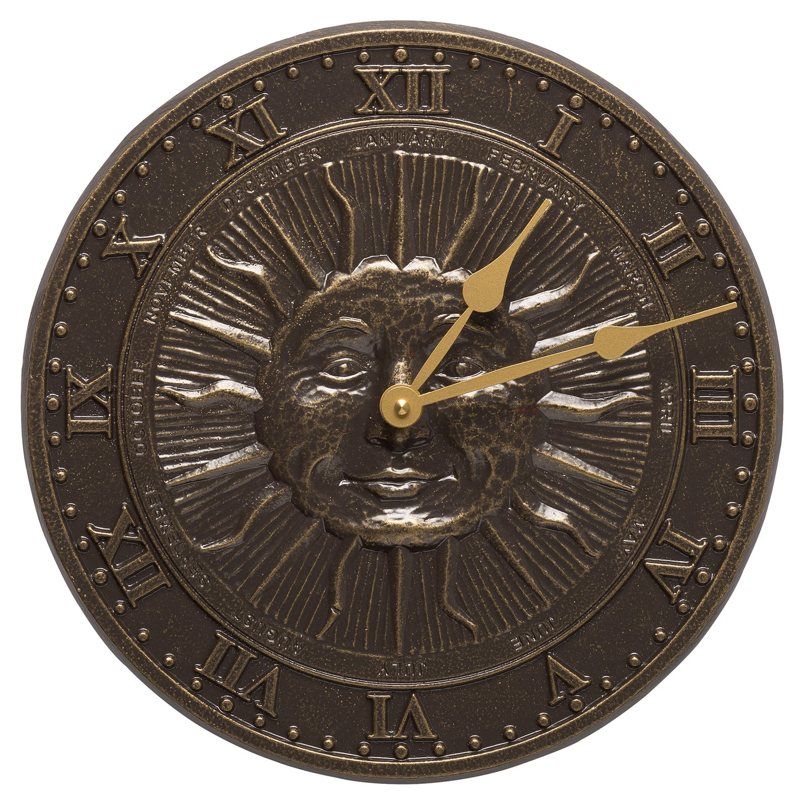 Sunface 12 in. Outdoor Wall Clock