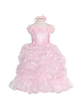 2af33b7cc52 Product Image Rain Kids Girls 8 Pink Sparkling Stars Print Pageant Gown  Dress. The Rain Kids