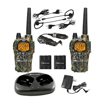Midland GXT1050VP4 X-TRA TALK GMRS 2-Way Radio with 36-Mile Range by YBS