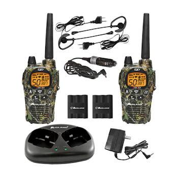 Midland GXT1050VP4 X-TRA TALK GMRS 2-Way Radio with 36-Mile (Radio Tray)