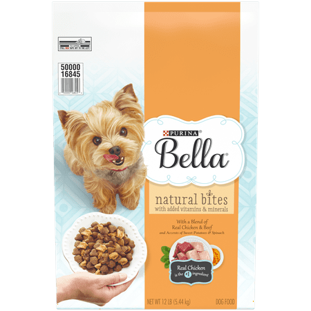 Purina Bella Natural Small Breed Dry Dog Food; Natural Bites With Real Chicken & Beef - 12 lb. Bag ()